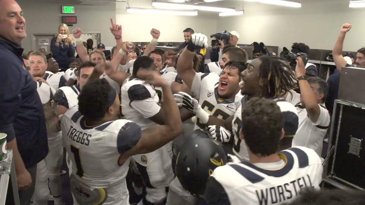 Cal Football Washington Locker Room Celebration Youtube
