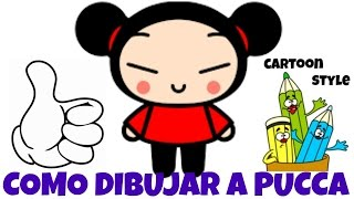 Como Dibujar a Pucca - How to Draw Pucca - Cartoon Style