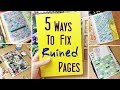 5 Ways to Fix Ruined or Messed up Sketchbook Pages: More Hacks and Ideas to Fill up Your Sketchbook