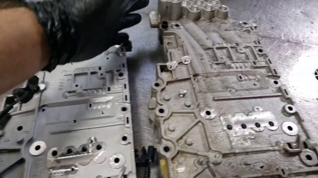 6L80E  - 6L90E Valve Body Differences,  Cuerpo de Válvulas.