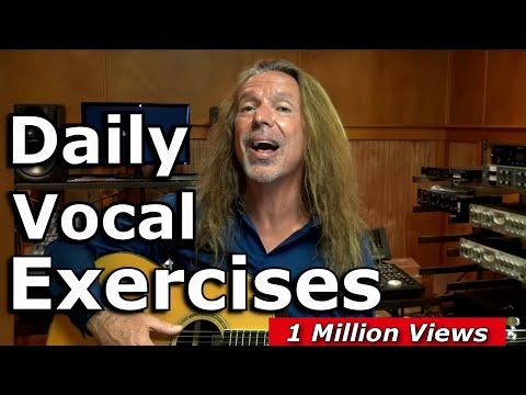 Vocal Warm Up Exercises - Daily Vocal Warm Ups - Vocal Tutorial - Ken Tamplin Vocal Academy