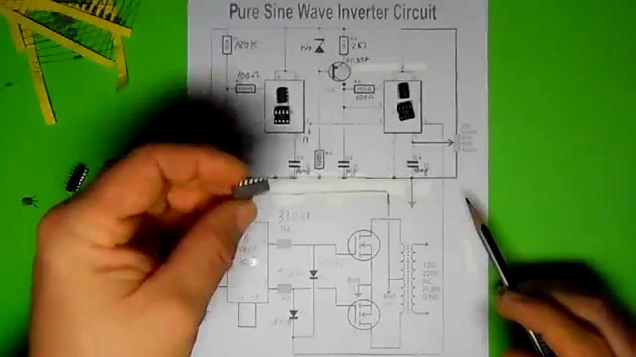 Pure Sine Wave Inverter Circuit Inversor De Onda Pura 1 Parte On Images For Using Sg3524 Diagram Image Youtube