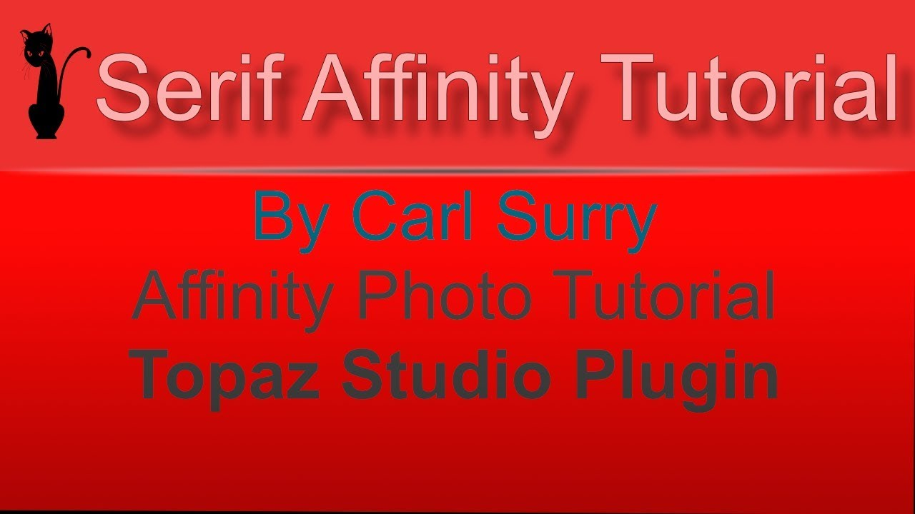Affinity Photo - Topaz Studio Plugin