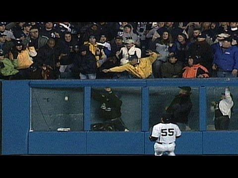 2004 ALCS Gm6: Bellhorn's homer hits off fan's hands