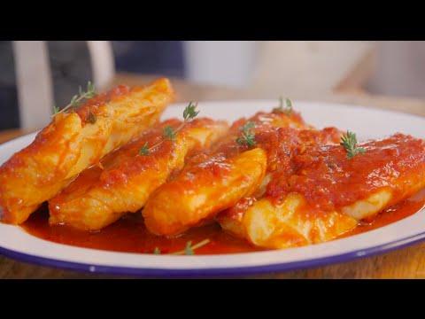 How To Make Tomato Sauce Cod With Sauteed Brocollini