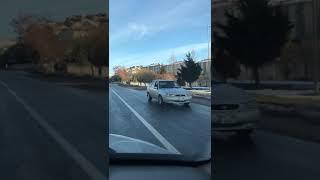 Nevşehirde otomobil kilometrelerce yolu geri geri gitti
