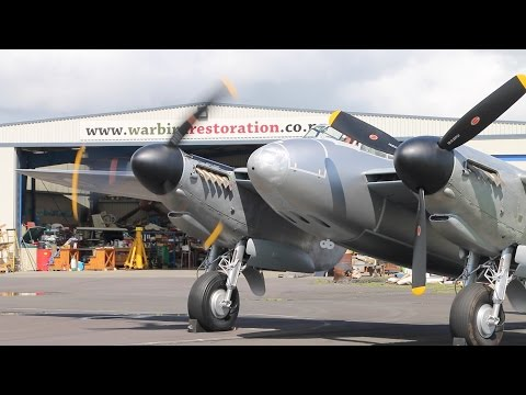 DH Mosquito Takes to The Sky! New Zealand 2016