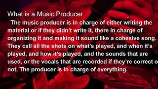 My life career project (Music producer)