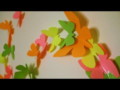 DIY BUTTERFLY  INSTALLATION (Украшение стен бабочками)