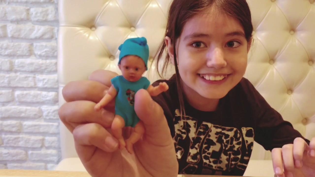 Кукла Реборн девочка с розовым цветочком - YouTube