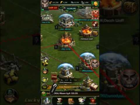 Clash of Kings - My kingdom is now 262 - Kingdom conquest 262 vs 109