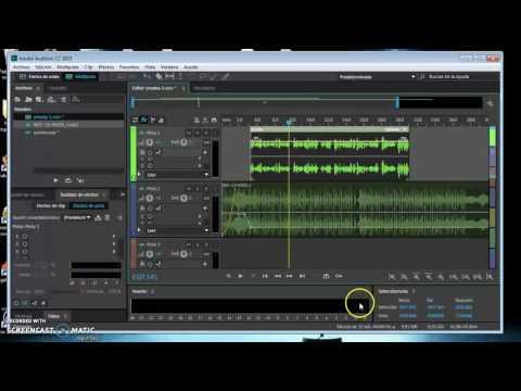 Como mezclar musica y voz en audition cs6