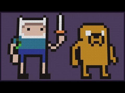 Minecraft: CONSTRUINDO PIXEL ART DA HORA DE AVENTURA (ADVENTURE TIME)
