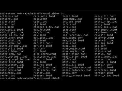 Load and Unload Apache Modules on Ubuntu 12 04