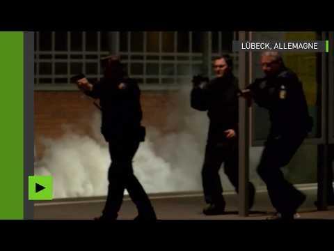 Allemagne : simulation d'exercices antiterroristes à la gare centrale de Lübeck