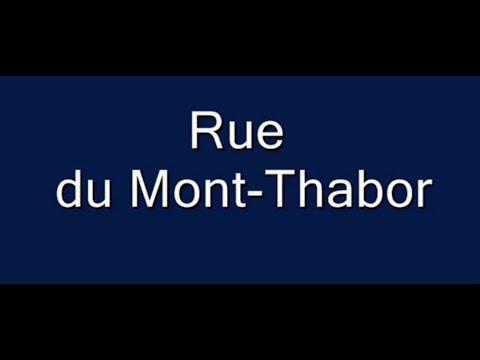 rue du mont thabor arrondissement 1er