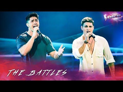 The Battles: Brock Ashby v Jackson Parfitt 'Waves' | The Voice Australia 2018