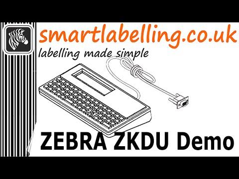 Zebra ZKDU - Keyboard display unit video demo