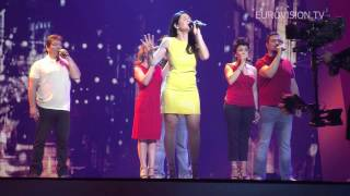 """Powered by http://www.eurovision.tvimpression of the first rehearsal filipa sousa from portugal.""""i walk streets city, old, dark, imperfect, the..."""
