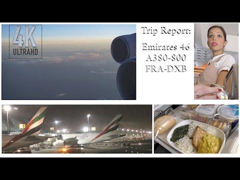 TRIP REPORT: Emirates A380 Frankfurt to Dubai in 4K/UHD
