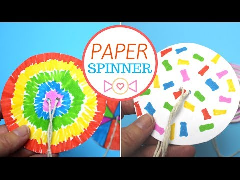 DIY Paper Spinners | Easy Paper Crafts