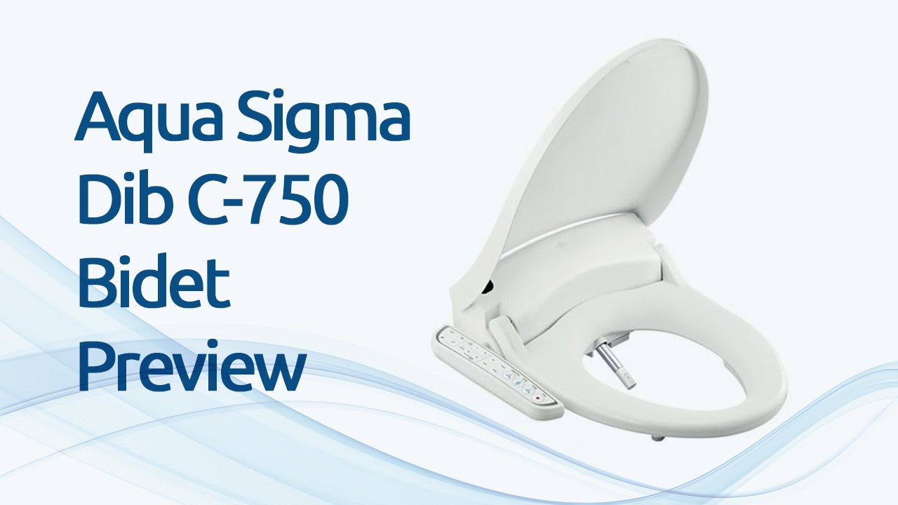 Aqua Sigma C 750 Bidet Shower Toilet Seat Preview Youtube
