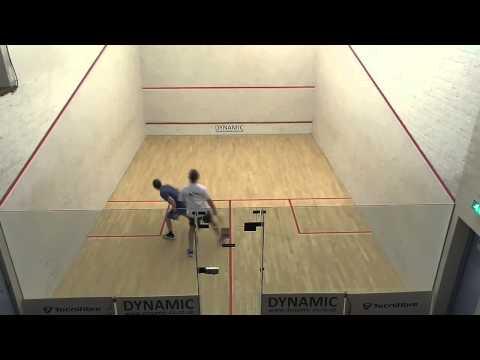 Norfolk squash league Steve Dawson v Jules Crew game 2