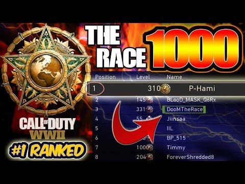 #1 Ranked Player In The World | The Race To Master Prestige Level 1000 | COD : WWII (LEVEL 310)