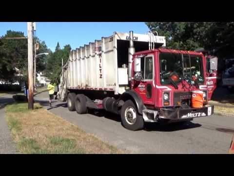 Hiltz Waste Disposal 231 ~ Mack MR Leach 2RII Packmaster Rear Loader Part 2
