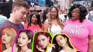 Asking NYC Strangers to Pick the Prettiest BLACKPINK Member?!