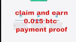claim every 20 minutes | payment proof | earn 0.015 bitcoin | claimbtc.com