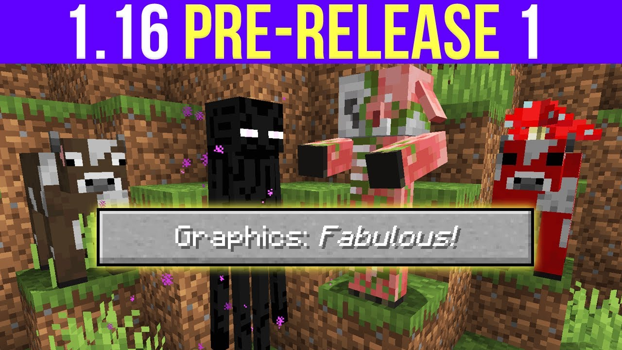 Minecraft 1 16 Pre Release 1 Fabulous Graphics Data Pack Dimensions Neutral Mob Changes Youtube