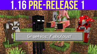 "Minecraft 1.16 Pre-Release 1 ""Fabulous"" Graphics, Data Pack Dimensions & Neutral Mob Changes"