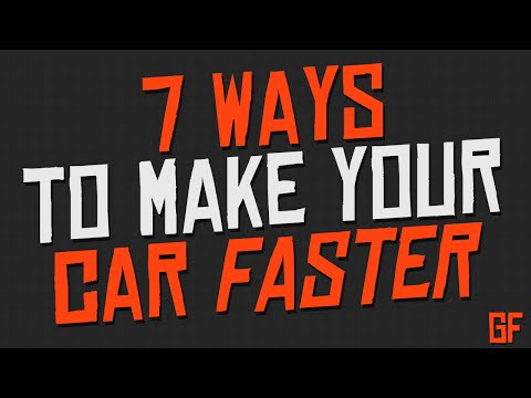 7 Ways On How To Make Your Car Faster