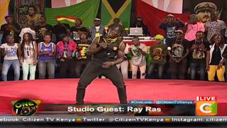 Ras Ray from Bungoma performs#OneLove