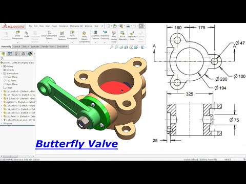 Design And Assembly Of Butterfly Valve In Solidworks