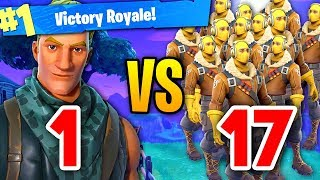 EPIC 1 versus 17 SQUADS CLUTCH WIN ON FORTNITE BATTLE ROYALE! (omg)