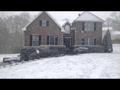 Snow showers in Clarksville, Tn.