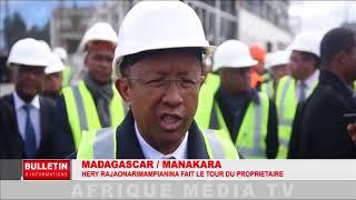 MADAGASCAR / MANAKARA : Hery Rajonarimampianina fait le tour du propriétaire.
