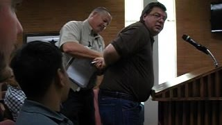 Mike Hanson Arrested For Going Over 3 Minutes At Gonzales City Council