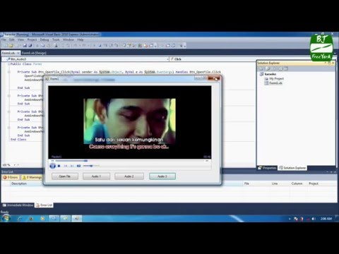 Tutorial - dasar software karaoke menggunakan windows media player dan vb. net 2010