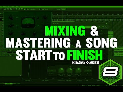Full in Depth Mixing & Mastering Process in Mixcraft 8   @Iamdices