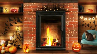 Cozy Halloween Ambience  Autumn Ambience (Fireplace Sounds, Autumn Rain, Thunder Sounds)
