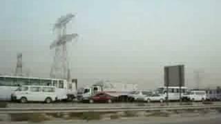 Traffic jam in dubai Alkhail Road
