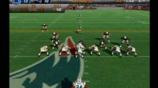 Madden 08 PS2 Colts vs Patriots Highlights
