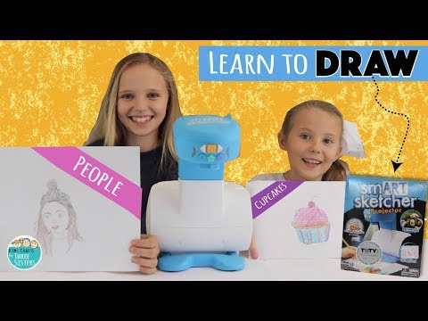 Learn to Draw People &  Cupcakes with smART Sketcher | How to Draw