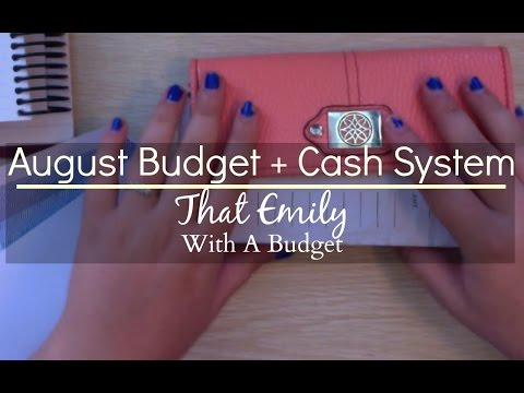 August Budget + Cash System || Budgeting While Living On Student Loans