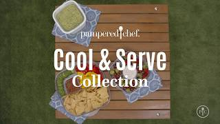 Pampered Chef ~New~ COOL /& SERVE 2 1//2 QUART BOWL Fall Games /& Picnics Tailgates