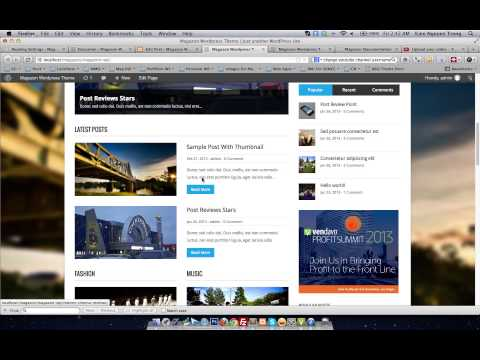 Creating Post Thumbnail - Magazon Wordpress Theme