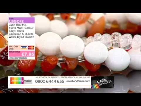 Crimping Pliers and Red & Blue Marcasite for jewellery making: JewelleryMaker LIVE 16/10/2014
